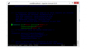 Change port in tomcat in Red hat linux Mentor IT